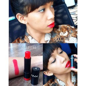 NYX 536 😋😋 I love red lipstick so much. Can't describe how I love red lipstick. ❤️❤️ Tag your friends who love red lipstick. 😘😘 #clozetteid #vegas_nay @nyxcosmetics #nyxcosmetics #nyxmakeupid #nyxoriginal #lips #lipstick #lipsticks #redlips #redlipstick #makeup #beauty #beautystuff #beautythings #beautyblogger #beautybloggerid #fotdibb #fotd #blogger #bloggerindonesia #indonesian #femaledaily